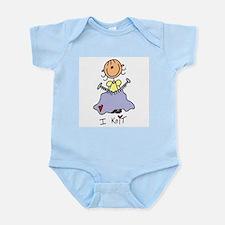 I Knit Stick Figure Infant Bodysuit