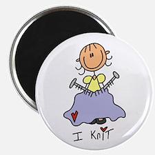 I Knit Stick Figure Magnet