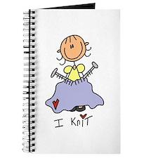 I Knit Stick Figure Journal