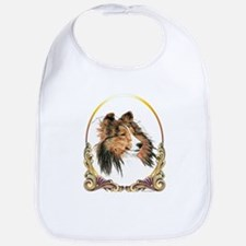 Sable Sheltie Christmas Bib