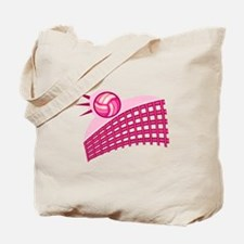 Pink Volleyball Logo Tote Bag