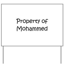 Funny Mohammed Yard Sign