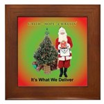 The Masonic Christmas Promise Framed Tile