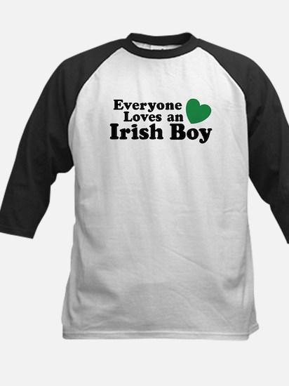 Everyone loves an irish boy Kids Baseball Jersey