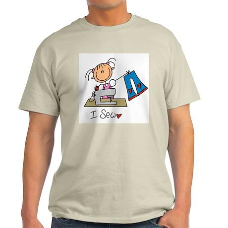 I Sew Stick Figure Light T-Shirt