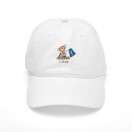 I Sew Stick Figure Cap