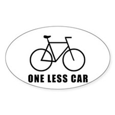 One less car - cycling Oval Decal