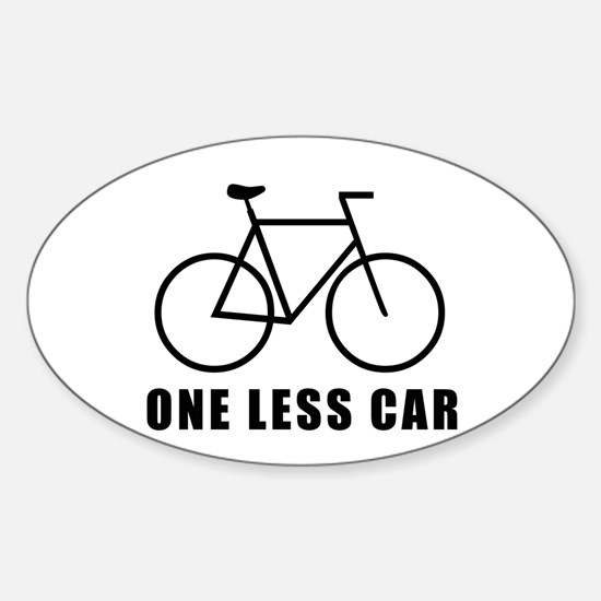 One Less Car Stickers Cafepress