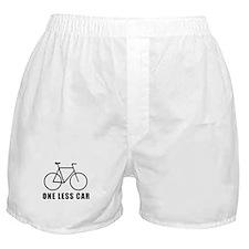 One less car - cycling Boxer Shorts
