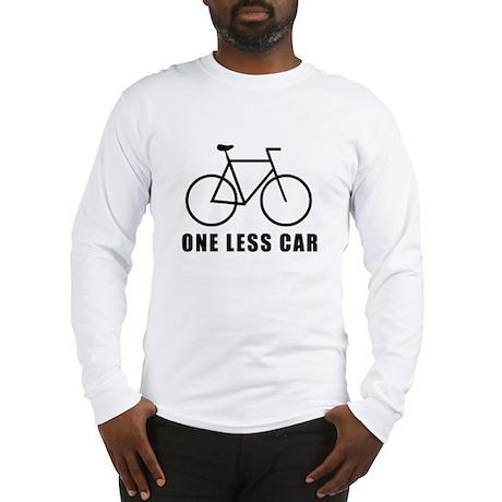 One less car - cycling Long Sleeve T-Shirt