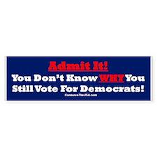 """""""Why Vote Democrat?"""" Bumper Sticker (50 pk)"""