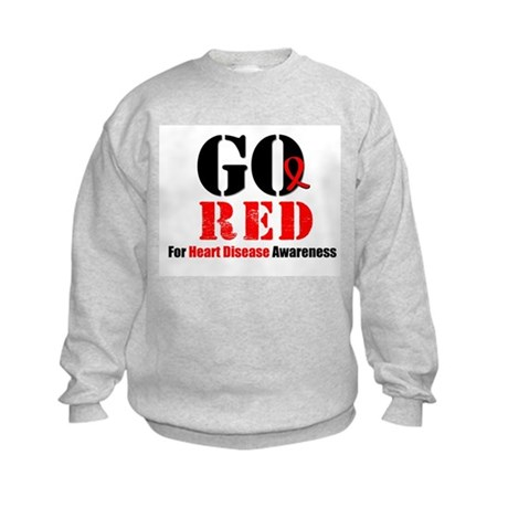 Go Red Heart Disease Kids Sweatshirt
