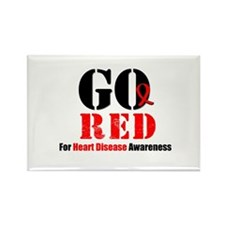 Go Red Heart Disease Rectangle Magnet