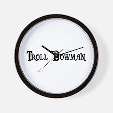 Troll Bowman Wall Clock