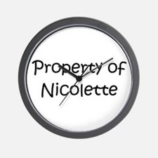 Cool Nicolette Wall Clock