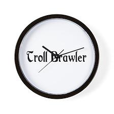 Troll Brawler Wall Clock