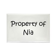 Funny Nia Rectangle Magnet