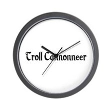 Troll Cannonneer Wall Clock