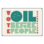Oil Before People Banner