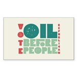 Oil Before People Rectangle Sticker 50 pk)