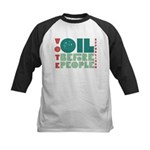 Oil Before People Kids Baseball Jersey