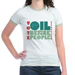 Oil Before People Jr. Ringer T-Shirt