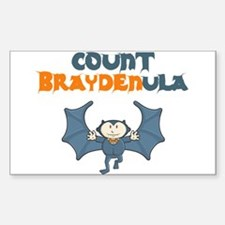Count Braydenula Rectangle Decal
