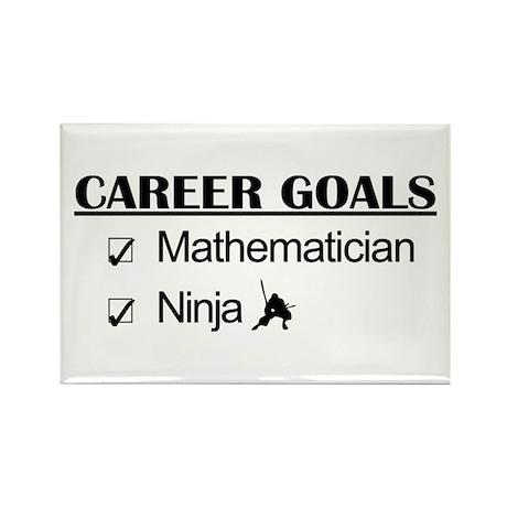 Mathematician Career Goals Ninja Rectangle Magnet