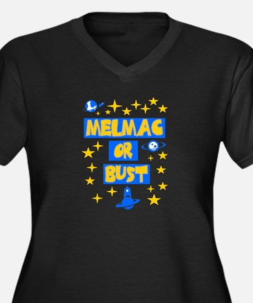 Melmac or Bust Women's Plus Size V-Neck Dark T-Shi