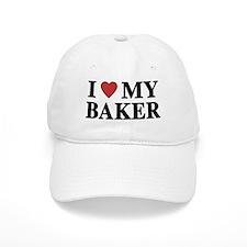 I Love My Baker Baseball Cap