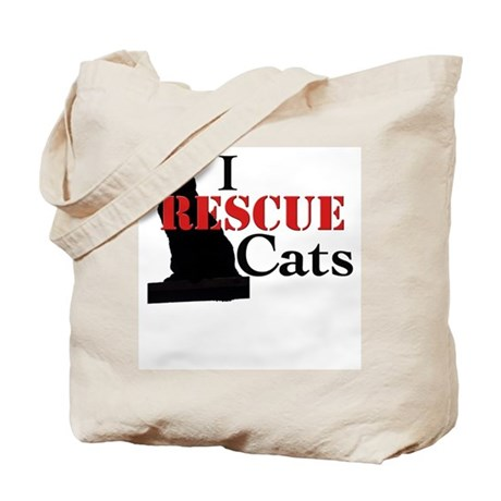 I Rescue Cats Tote Bag