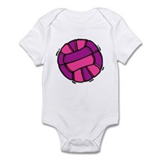 Pink Purple volleyball Infant Bodysuit