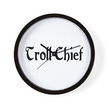 Troll Chief Wall Clock