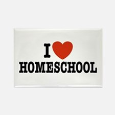 I Love Homeschool Rectangle Magnet
