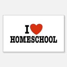 I Love Homeschool Rectangle Decal