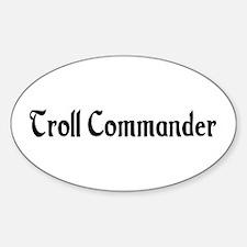 Troll Commander Oval Decal