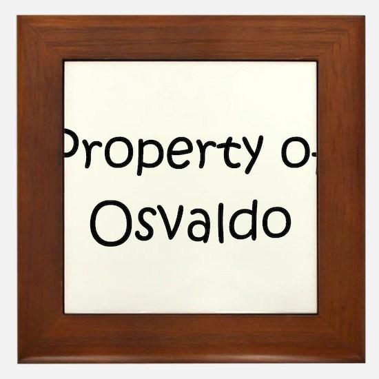 Funny Osvaldo Framed Tile