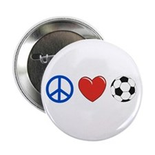 "peace, love, soccer 2.25"" Button"