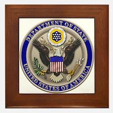 State Dept. Seal Framed Tile