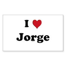 I love Jorge Rectangle Decal