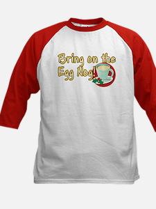 BRING ON THE EGG NOG! Kids Baseball Jersey