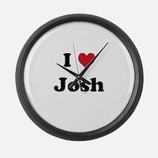I love Josh Large Wall Clock