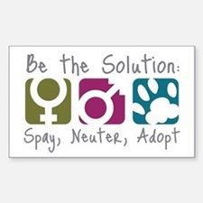 Be the Solution Rectangle Bumper Stickers