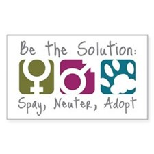 Be the Solution Rectangle Stickers