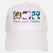 Peace, Love, Adoption Baseball Baseball Cap