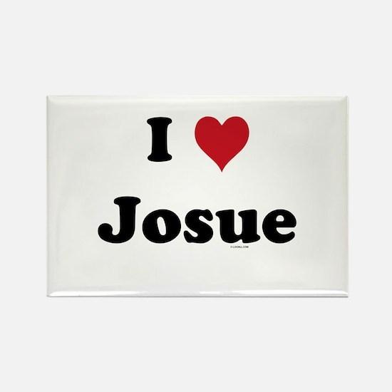 I love Josue Rectangle Magnet