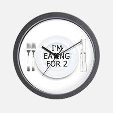 I'm eating for 2 - pregnancy Wall Clock