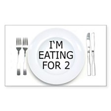 I'm eating for 2 - pregnancy Rectangle Decal