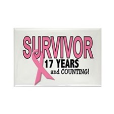 Breast Cancer Survivor 17 Years Rectangle Magnet