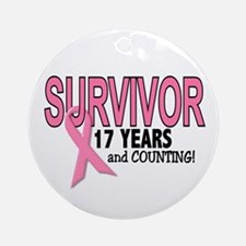 Breast Cancer Survivor 17 Years Ornament (Round)